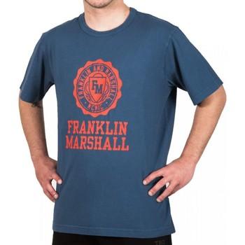 Oblačila Moški Majice s kratkimi rokavi Franklin & Marshall T-shirt Franklin & Marshall Classique bleu marine
