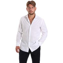Oblačila Moški Srajce z dolgimi rokavi Les Copains 20P500 P3196SL Biely