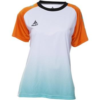 Oblačila Ženske Majice s kratkimi rokavi Select T-shirt femme  Player Femina orange/blanc/vert