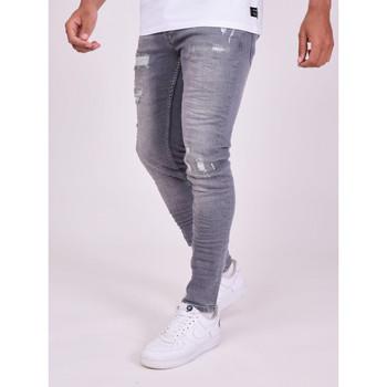 Oblačila Moški Hlače Project X Paris Pantalon Jeans Slim effet usé gris foncé