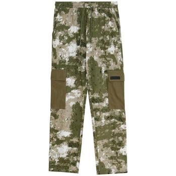 Oblačila Moški Hlače cargo Sixth June Pantalon  Cargo Camouflage vert camouflage