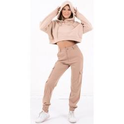 Oblačila Ženske Puloverji Sixth June Sweatshirt Crop Top femme  Acid Printed beige