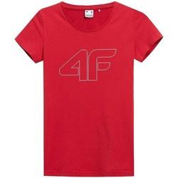 Oblačila Ženske Majice s kratkimi rokavi 4F TSD353 Rdeča
