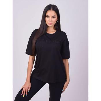 Oblačila Ženske Majice s kratkimi rokavi Project X Paris T-shirt femme basic noir