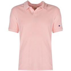Oblačila Moški Polo majice kratki rokavi Champion  Rožnata