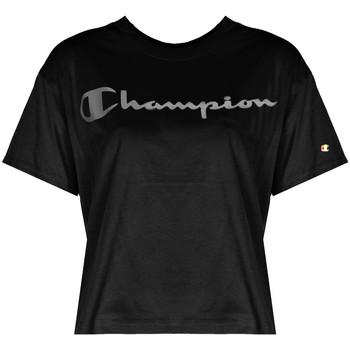 Oblačila Ženske Majice s kratkimi rokavi Champion  Črna