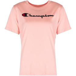 Oblačila Ženske Majice s kratkimi rokavi Champion  Rožnata