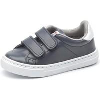 Čevlji  Deklice Nizke superge Cienta Chaussures fille  Deportivo Scractch Piel bleu marine