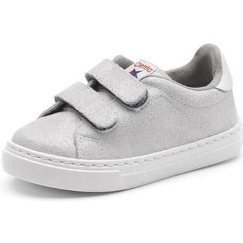 Čevlji  Deklice Nizke superge Cienta Chaussures fille  Deportivo Scractch Glitter gris clair