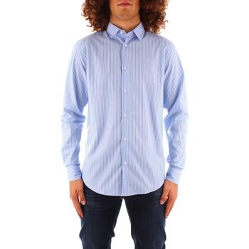 Oblačila Moški Srajce z dolgimi rokavi Trussardi 52C00216 1T004966 BLUE