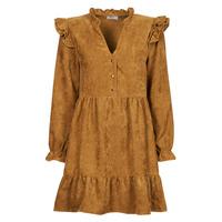 Oblačila Ženske Kratke obleke Betty London PINEA Kamel