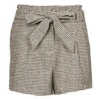 Oblačila Ženske Kratke hlače & Bermuda Betty London PIUBELLA Črna / Kremno bela
