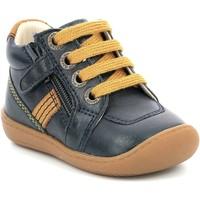 Čevlji  Deklice Polškornji Aster Chaussures fille  Piasap bleu marine/orange clair