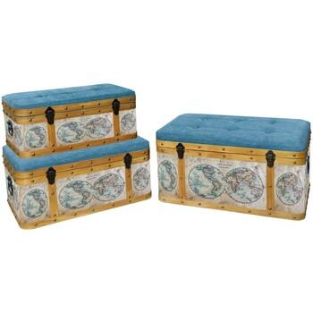 Dom Kovčki in škatle za shranjevanje Signes Grimalt Baul Set 3 U Marrón