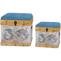 Dom Kovčki in škatle za shranjevanje Signes Grimalt Baul Set 2 U Marrón