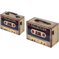 Dom Kovčki in škatle za shranjevanje Signes Grimalt Škatle Set 2 U Beige