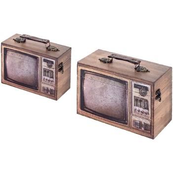 Dom Kovčki in škatle za shranjevanje Signes Grimalt Tele Box Set 2 U Marrón