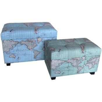 Dom Kovčki in škatle za shranjevanje Signes Grimalt Set 2 Svetovna Debla Azul