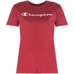 Oblačila Ženske Majice s kratkimi rokavi Champion  Rdeča