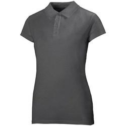 Oblačila Ženske Polo majice kratki rokavi Helly Hansen Crew Polo Siva