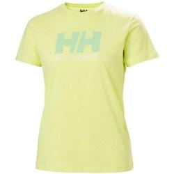 Oblačila Ženske Majice s kratkimi rokavi Helly Hansen W Logo Tshirt Zelena