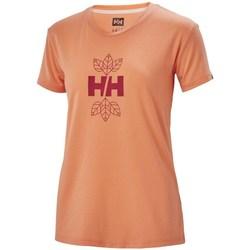 Oblačila Ženske Majice s kratkimi rokavi Helly Hansen Skog Graphic Oranžna