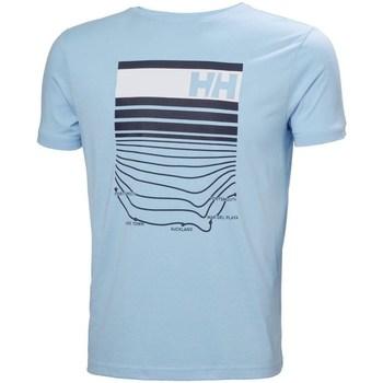 Oblačila Moški Majice s kratkimi rokavi Helly Hansen Shoreline Svetlo modra