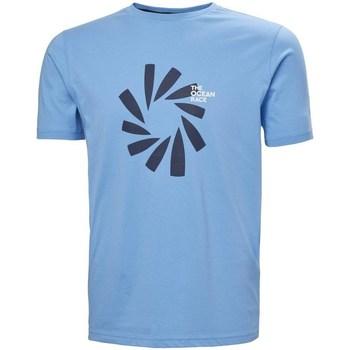Oblačila Moški Majice s kratkimi rokavi Helly Hansen The Ocean Race Svetlo modra