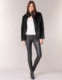 Oblačila Ženske Hlače s 5 žepi Vero Moda SEVEN Črna