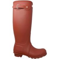 Čevlji  Ženske Škornji Hunter  Rojo