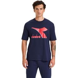 Oblačila Moški Majice s kratkimi rokavi Diadora Ss Shield Modra