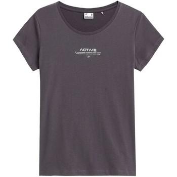 Oblačila Ženske Majice s kratkimi rokavi 4F TSD020 Grafitna