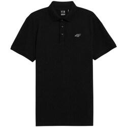 Oblačila Moški Polo majice kratki rokavi 4F TSM356 Črna