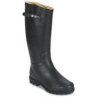 Čevlji  Ženske škornji za dež  Aigle AIGLENTINE FUR Črna