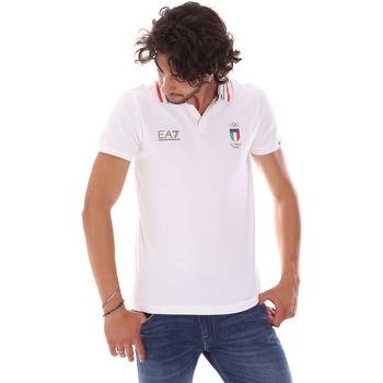 Oblačila Moški Polo majice kratki rokavi Ea7 Emporio Armani 277017 6P907 Biely