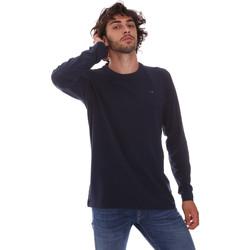 Oblačila Moški Majice z dolgimi rokavi Key Up 2E96B 0001 Modra