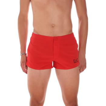 Oblačila Moški Kopalke / Kopalne hlače Ea7 Emporio Armani 902005 7P730 Rdeča