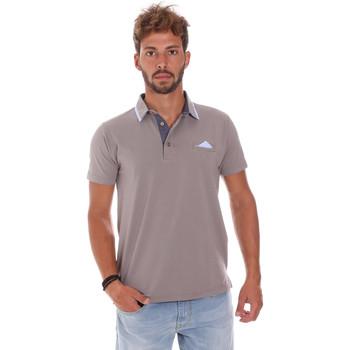 Oblačila Moški Polo majice kratki rokavi Bradano 509 Siva