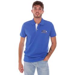Oblačila Moški Polo majice kratki rokavi Key Up 2G96Q 0001 Modra