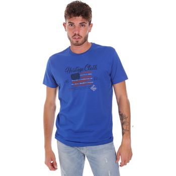 Oblačila Moški Majice s kratkimi rokavi Key Up 2G83S 0001 Modra