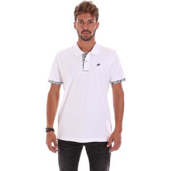 Oblačila Moški Polo majice kratki rokavi Key Up 2R53G 0001 Biely