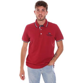 Oblačila Moški Polo majice kratki rokavi Key Up 2Q60G 0001 Rdeča