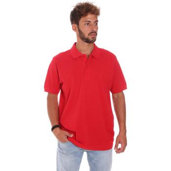 Oblačila Moški Polo majice kratki rokavi Key Up 2800Q 0001 Rdeča