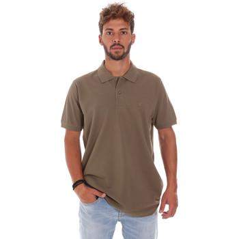 Oblačila Moški Polo majice kratki rokavi Key Up 2800Q 0001 Rjav