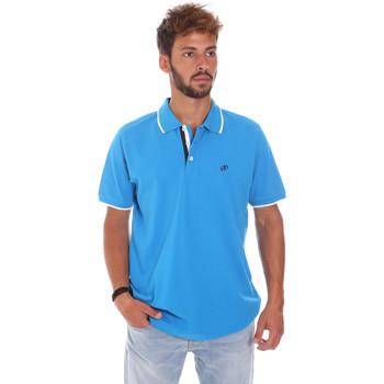Oblačila Moški Polo majice kratki rokavi Key Up 2Q711 0001 Modra