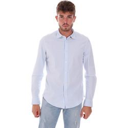 Oblačila Moški Srajce z dolgimi rokavi Gas 151133 Modra