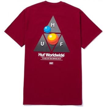 Oblačila Moški Majice s kratkimi rokavi Huf T-shirt video format tt ss Rdeča