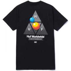 Oblačila Moški Majice s kratkimi rokavi Huf T-shirt video format tt ss Črna