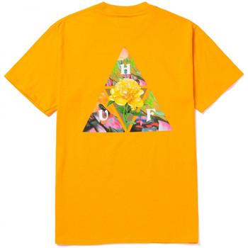 Oblačila Moški Majice s kratkimi rokavi Huf T-shirt new dawn tt ss Rumena