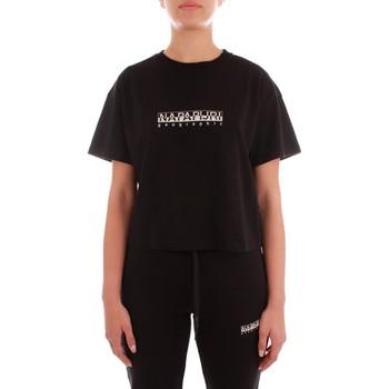 Oblačila Ženske Majice s kratkimi rokavi Napapijri NP0A4FSO0411 BLACK